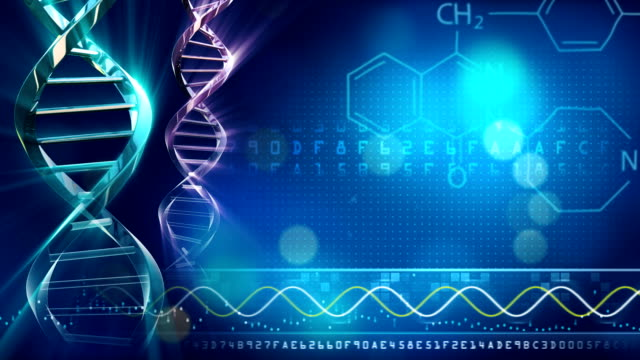 DNA strand background video