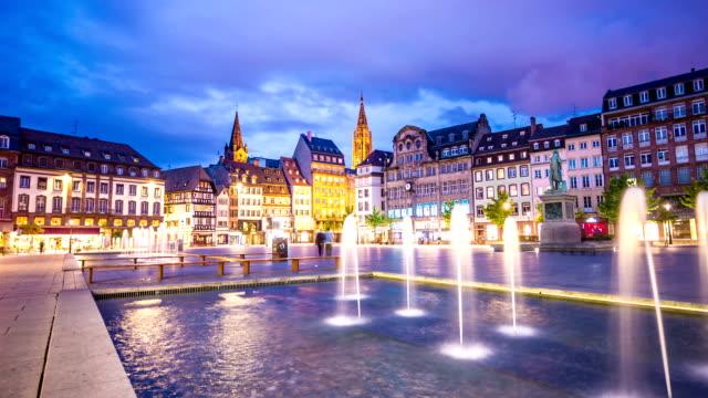 Strasbourg by night video