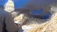 Straw and agricultural machine video
