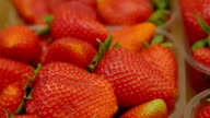 strawberries at market stall video