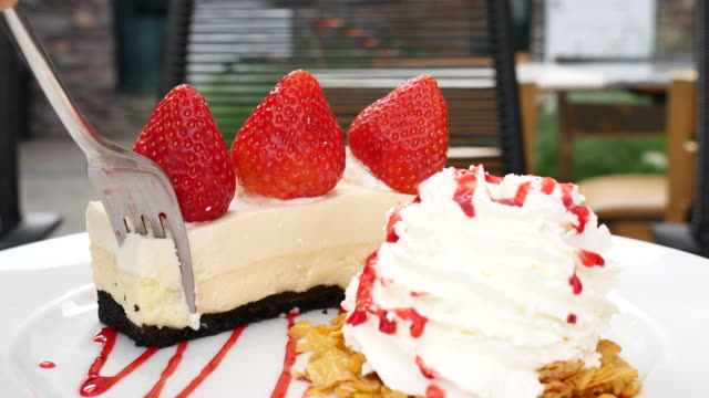 Strawberries Cheesecake with strawberry video