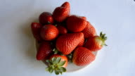 Strawberries On A Plate video