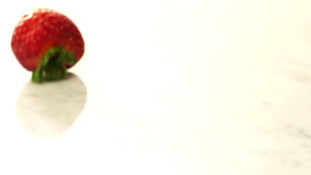 Strawberries rolling video