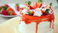 Strawberry cake video