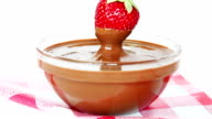 Strawberry dipped in chocolate video