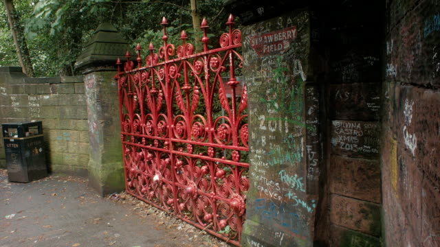 Strawberry Field Gates Sign Liverpool England video
