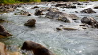 stream clear mountain river over rocks video
