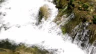 Stream of water by a waterfall video