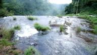 stream of waterfall in Champasak, Laos video