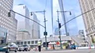 Street, and freedom tower in New York video
