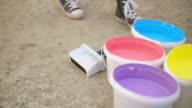 Street Artist Preparing Paint video
