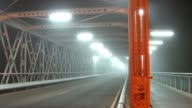 Street bridge in a fog video