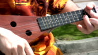 Street Busker Playing Ukulele Fast (HD 1080p30) video