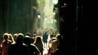 street crowd slowmotion video