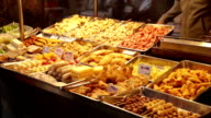 Street food at Lehua Night Market in Taiwan video