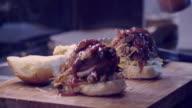 Street Food Pulled Pork Burger video
