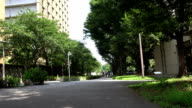 Street headed to a hospital at the university of Tokyo video