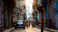 Street in Havana, Cuba with vintage American Car video