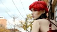 Street mannequin. video