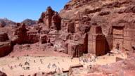 Street of Facades - Petra, Jordan video