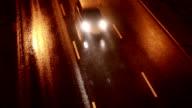 HD: Street on the rainy night video