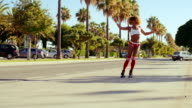 Street Roller Skating at Exotic Outdoor video