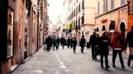 Street scene from Rome video