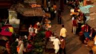 Street Scene in Kolkata (Calcutta), India: Flower Market video