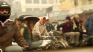 Street Scene, Traffic in Lucknow, India. video