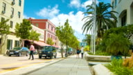 Street Scene with Business and Shopping Properties in Hamilton, Bermuda. video