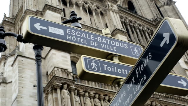 Street Signs at Paris. video