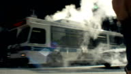 Street smoke in NYC USA video