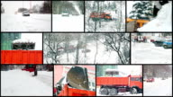 Street Snow Removal - Snowstorm in the City video