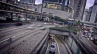 Street traffic in Hong Kong video