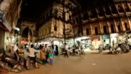 Street traffic in Junagadh. Timelapse video