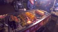 Street vendor sells rotisserie duck in Shanghai. video