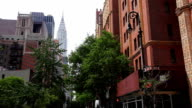 Street view with the Chrysler Building, Manhattan video