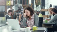 Stressed business woman video
