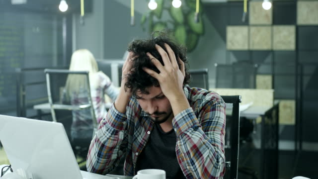 Stressed businessman video