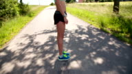 Stretching in Road video