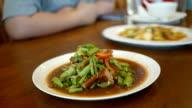String bean spicy salad video