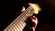 Strings and Neck of Guitar video