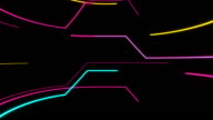 Strip of Lights and Colors in a Retro Science Fiction Background video