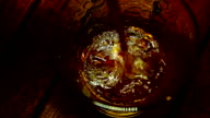 Strong alcohol is poured into a glass video