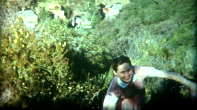 Strong Young Woman Climbs Hill 1949 video