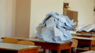 Student Getting Out of Pile-Of-Papers video