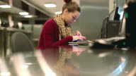 Student in a library video