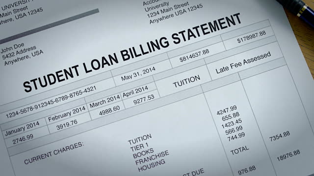 Student Loan Past Due Statement and Bill video
