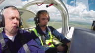 Student Pilot Confidently Flying Plane video