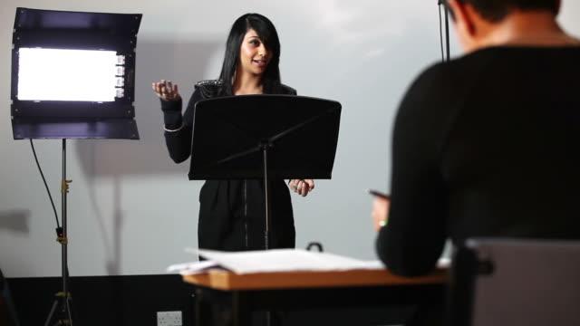 Student presentation examination video